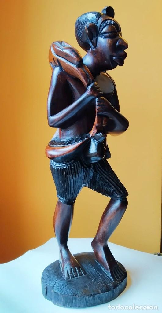 Arte: Figura alta calidad madera mahogany (caoba). África - Foto 2 - 183170365