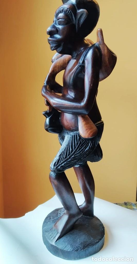 Arte: Figura alta calidad madera mahogany (caoba). África - Foto 3 - 183170365
