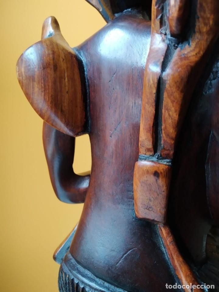 Arte: Figura alta calidad madera mahogany (caoba). África - Foto 4 - 183170365