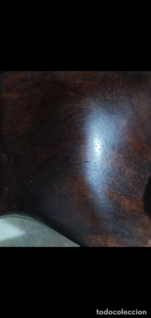 Arte: Figura alta calidad madera mahogany (caoba). África - Foto 5 - 183170365