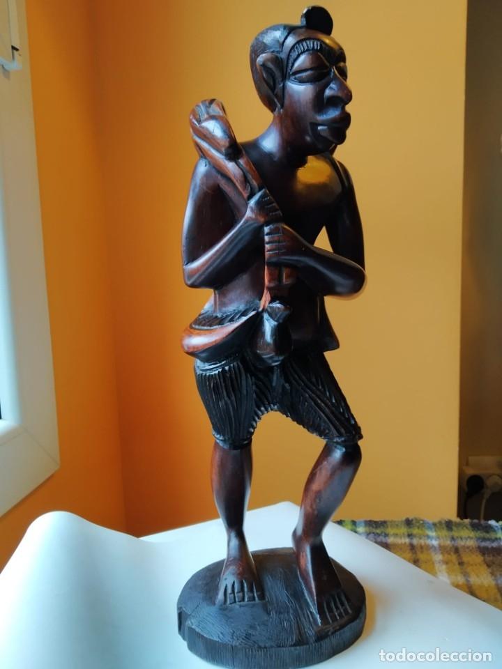 Arte: Figura alta calidad madera mahogany (caoba). África - Foto 6 - 183170365