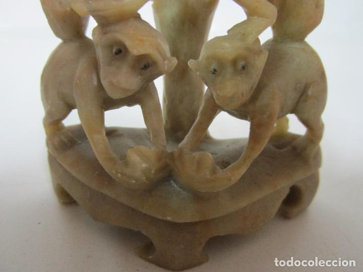 Arte: Escultura en Talla de Piedra Jabón - Figuras Monos - muy Buena Calidad - Foto 9 - 183357512