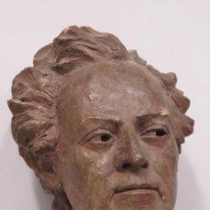 Arte: IMPONENTE BUSTO DEL COMPOSITOR GUSTAV MAHLER. TERRACOTA PATINADA. Lote 183481021