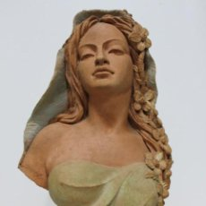 Arte: BUSTO DE MUJER ALEGORIA DE PRIMAVERA FIRMADO SENSERRICH. Lote 183798821
