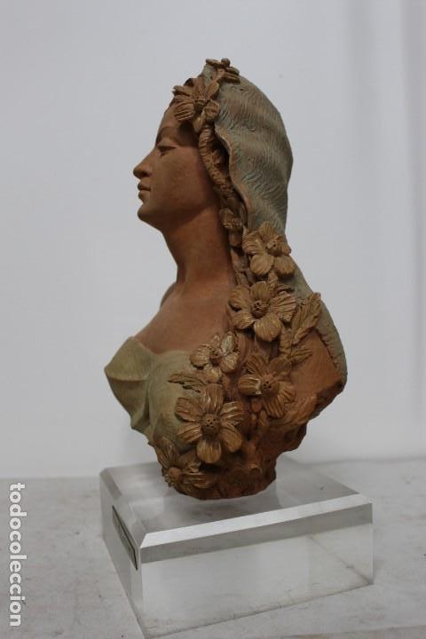 Arte: Busto de mujer alegoria de primavera firmado Senserrich - Foto 6 - 183798821