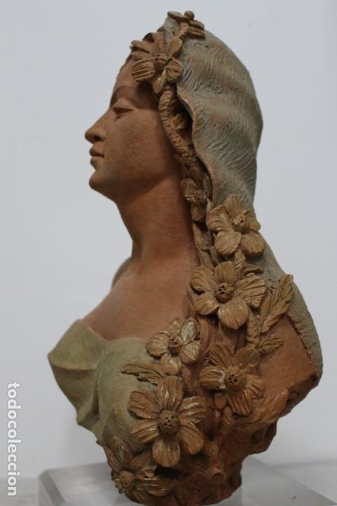 Arte: Busto de mujer alegoria de primavera firmado Senserrich - Foto 7 - 183798821