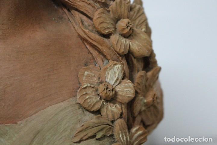 Arte: Busto de mujer alegoria de primavera firmado Senserrich - Foto 9 - 183798821