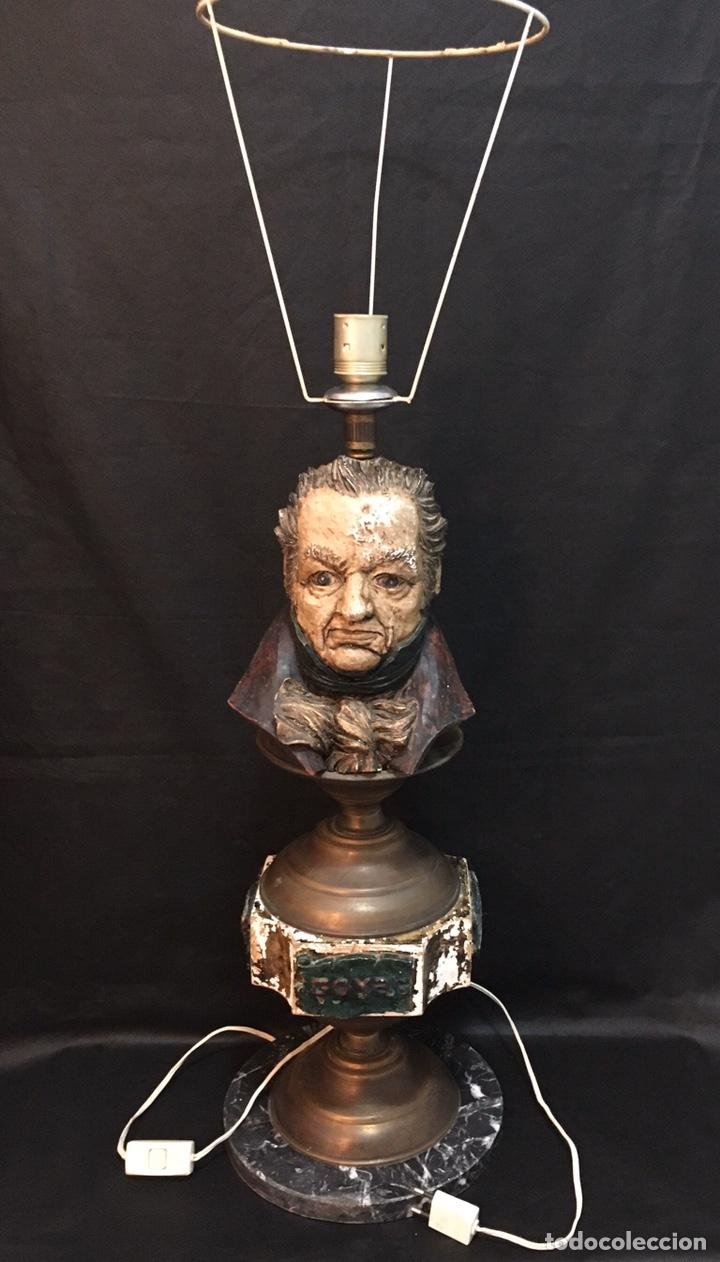 Arte: Lámpara busto de Goya antigua - Foto 3 - 184061838