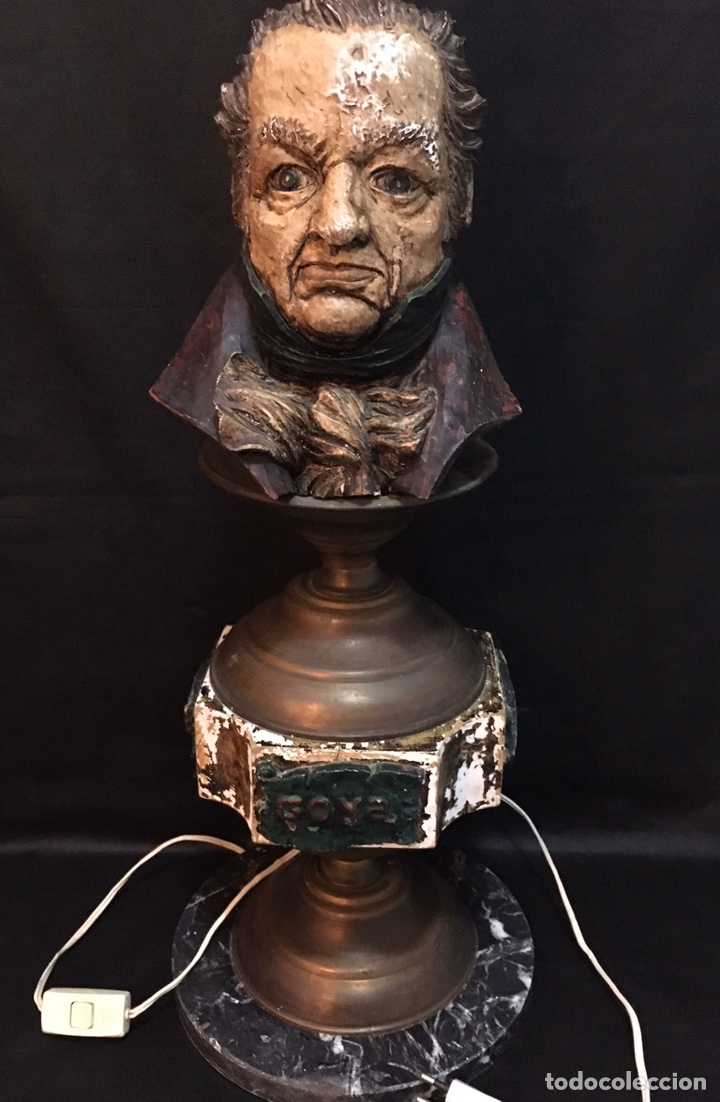 Arte: Lámpara busto de Goya antigua - Foto 4 - 184061838