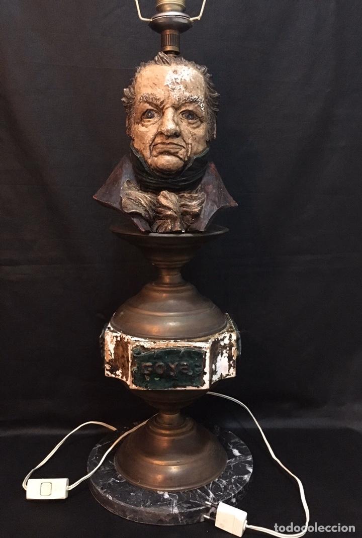 Arte: Lámpara busto de Goya antigua - Foto 5 - 184061838