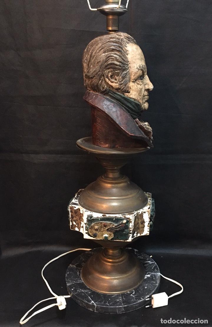 Arte: Lámpara busto de Goya antigua - Foto 8 - 184061838