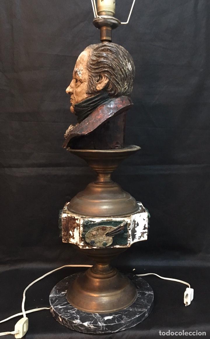 Arte: Lámpara busto de Goya antigua - Foto 21 - 184061838