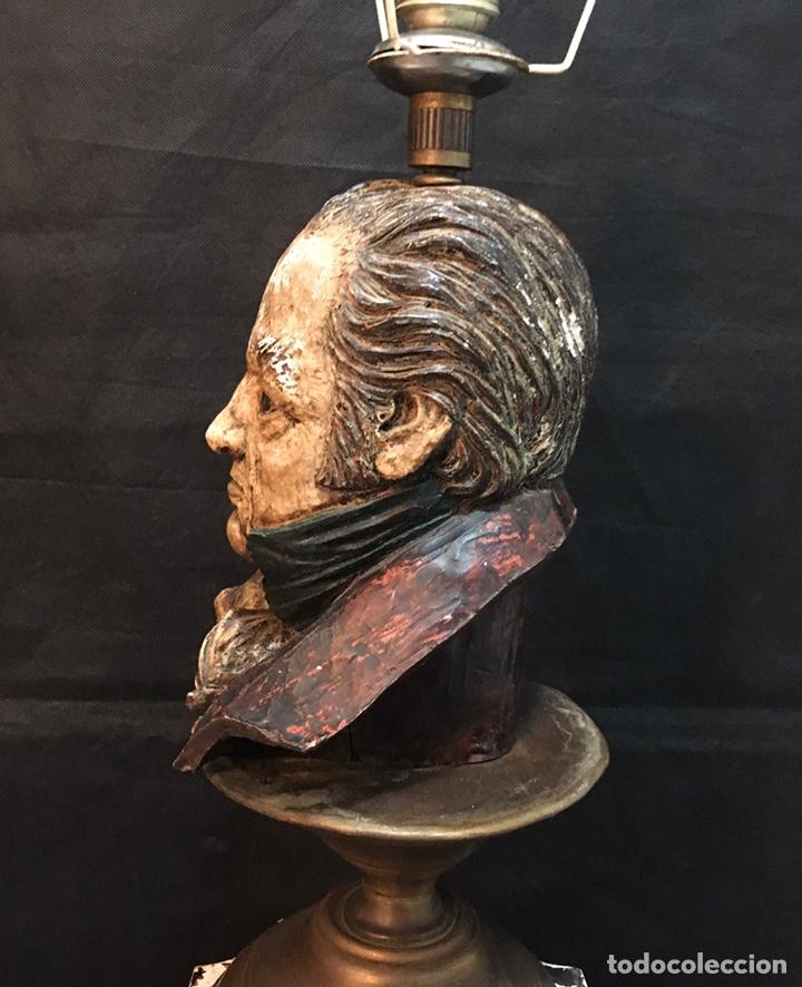 Arte: Lámpara busto de Goya antigua - Foto 22 - 184061838
