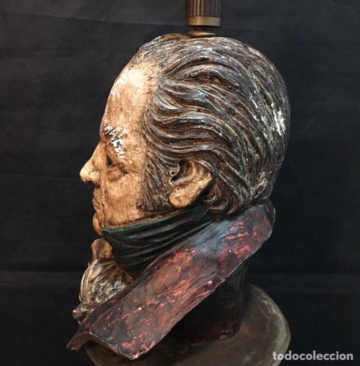 Arte: Lámpara busto de Goya antigua - Foto 23 - 184061838