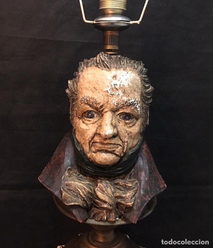 Arte: Lámpara busto de Goya antigua - Foto 26 - 184061838