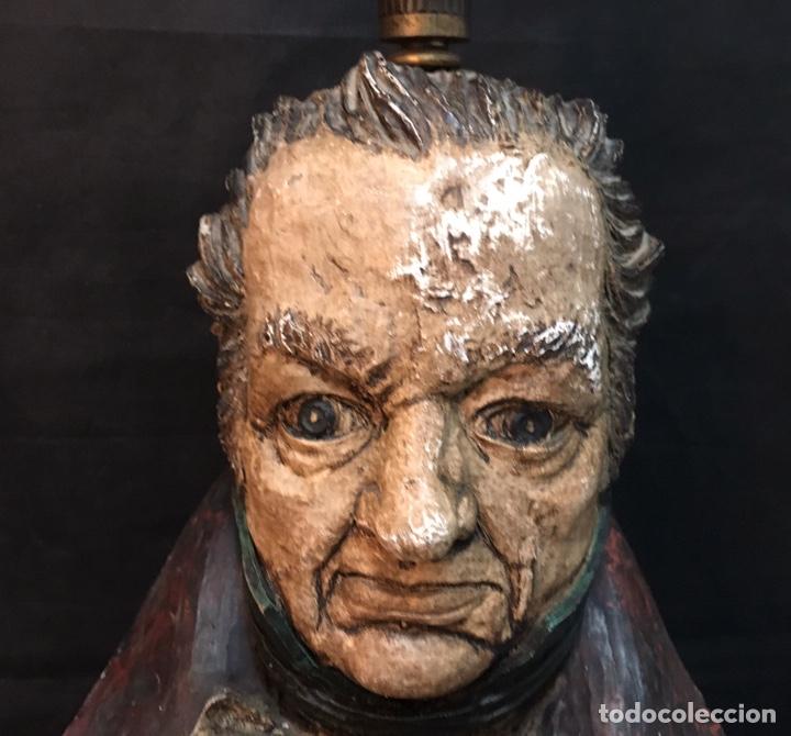 Arte: Lámpara busto de Goya antigua - Foto 27 - 184061838