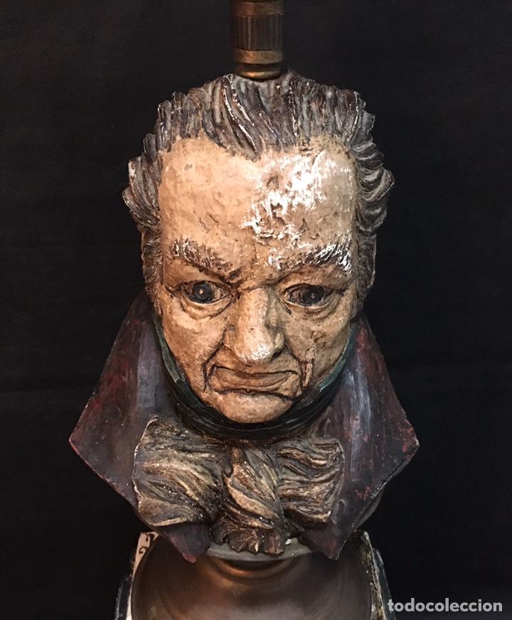 Arte: Lámpara busto de Goya antigua - Foto 29 - 184061838