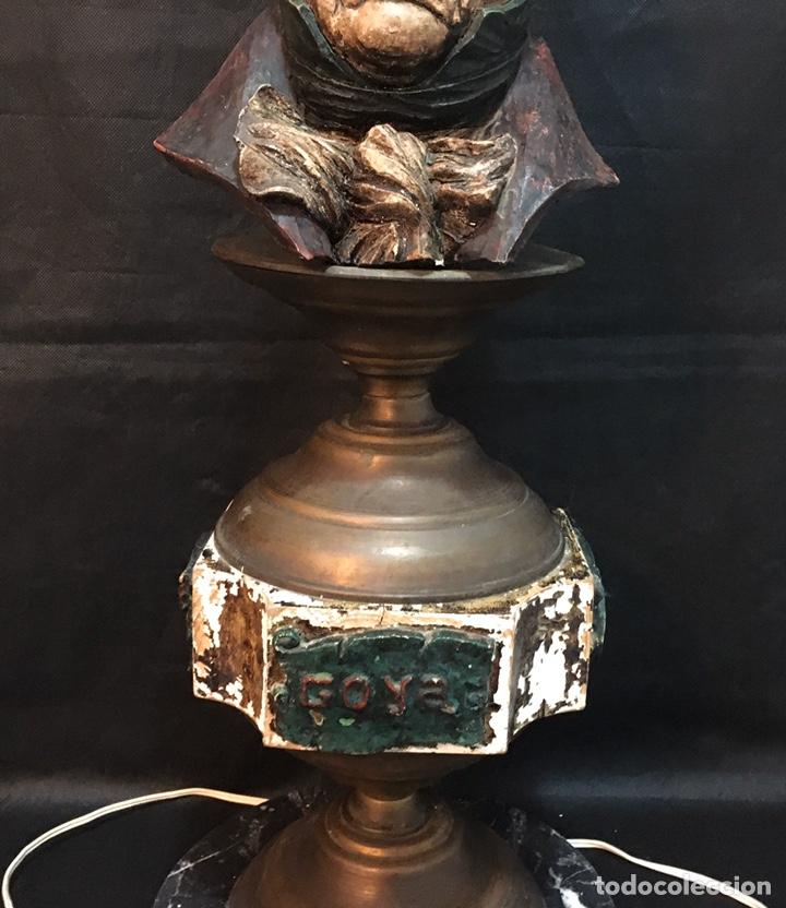 Arte: Lámpara busto de Goya antigua - Foto 30 - 184061838