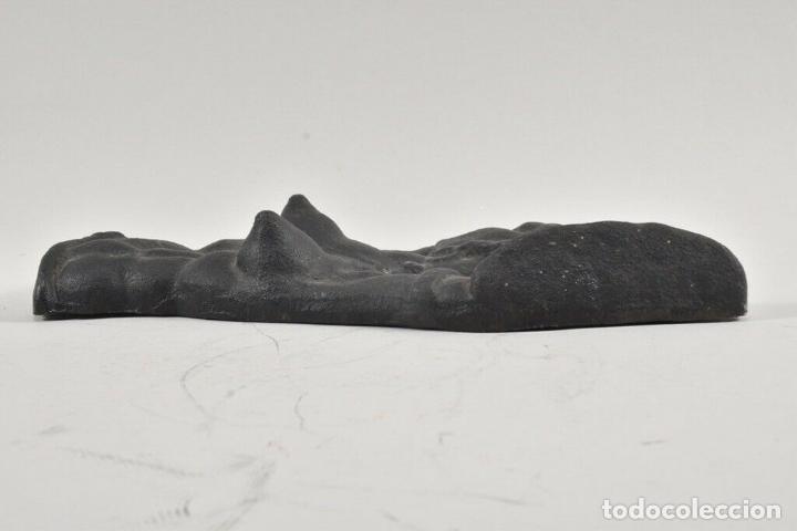 Arte: MUY RARO PRECIOSO Y ANTIGUO BUSTO ESCULTURA EN HIERRO DE UNA AFRICANA HALBAKT 27 cm 143 euros precio - Foto 5 - 184095071