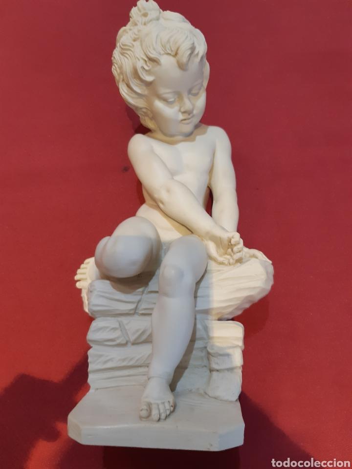 FIGURA NIÑO PENSADOR A. GIANNELLI (Arte - Escultura - Alabastro)