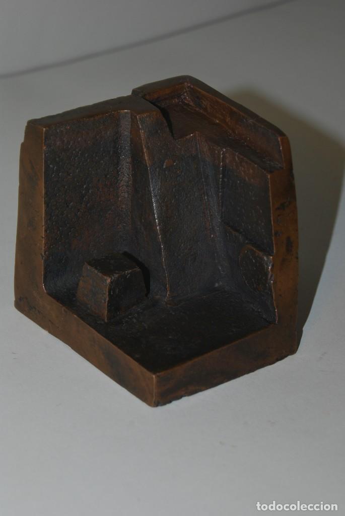 ESCULTURA EN BRONCE DE RAMÓN CALDERÓN - CIUDAD INDIA - MÓDULO Nº4 CIUDADES - 1979 (Arte - Escultura - Bronce)