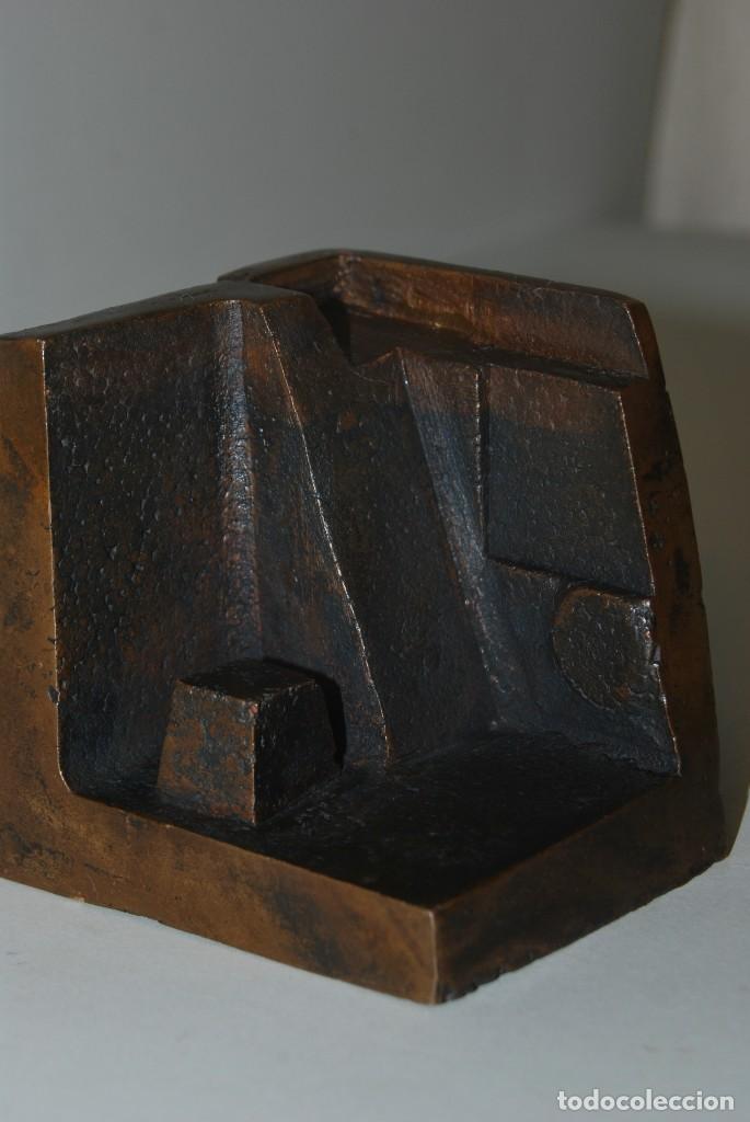 Arte: ESCULTURA EN BRONCE DE RAMÓN CALDERÓN - CIUDAD INDIA - MÓDULO Nº4 CIUDADES - 1979 - Foto 2 - 184286071