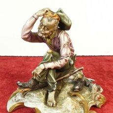 Arte: MENDIGO. ESCULTURA DE PORCELANA ESMALTADA. BORSATO. ITALIA. SIGLO XX. . Lote 184432410