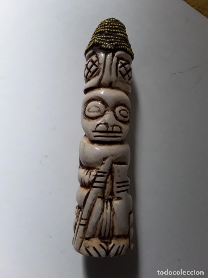 Arte: Consolador de hueso labrado. Arte africano - Foto 7 - 184524031