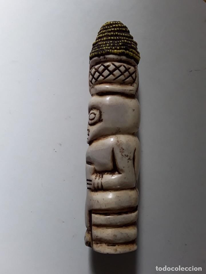 Arte: Consolador de hueso labrado. Arte africano - Foto 8 - 184524031