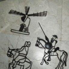 Arte: FORJA DE HIERRO ANTIGUA DEL QUIJOTE DE LA MANCHA. Lote 184572230