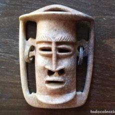 Arte: MÁSCARA DE PIEDRA ÉTNICA AFRICANA O MAYA, AZTECA, INCA.. Lote 184604453