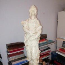 Arte: MARAVILLOSA ESCULTURA - FIGURA DE UNA MUJER EN RESINA . 48 CM. TODO UNA JOYA!!. Lote 184778092