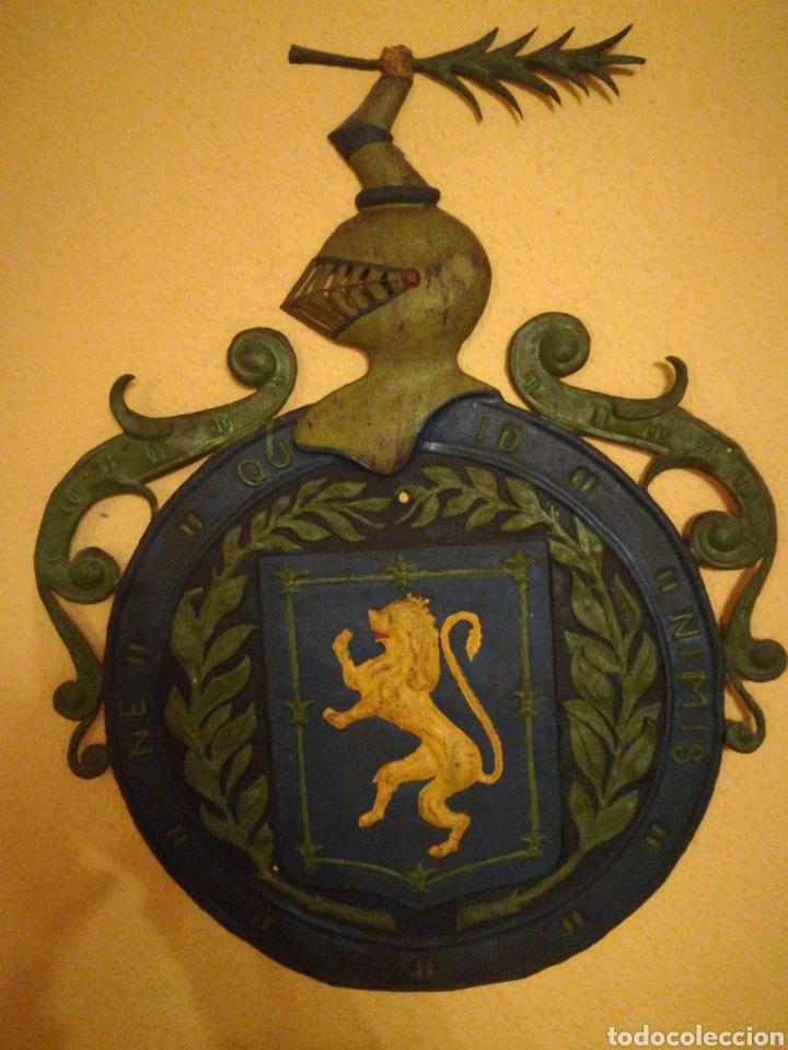 Arte: Antiguo Escudo Nobiliario de chapa. - Foto 3 - 184813485