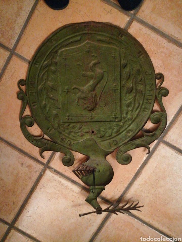 Arte: Antiguo Escudo Nobiliario de chapa. - Foto 4 - 184813485