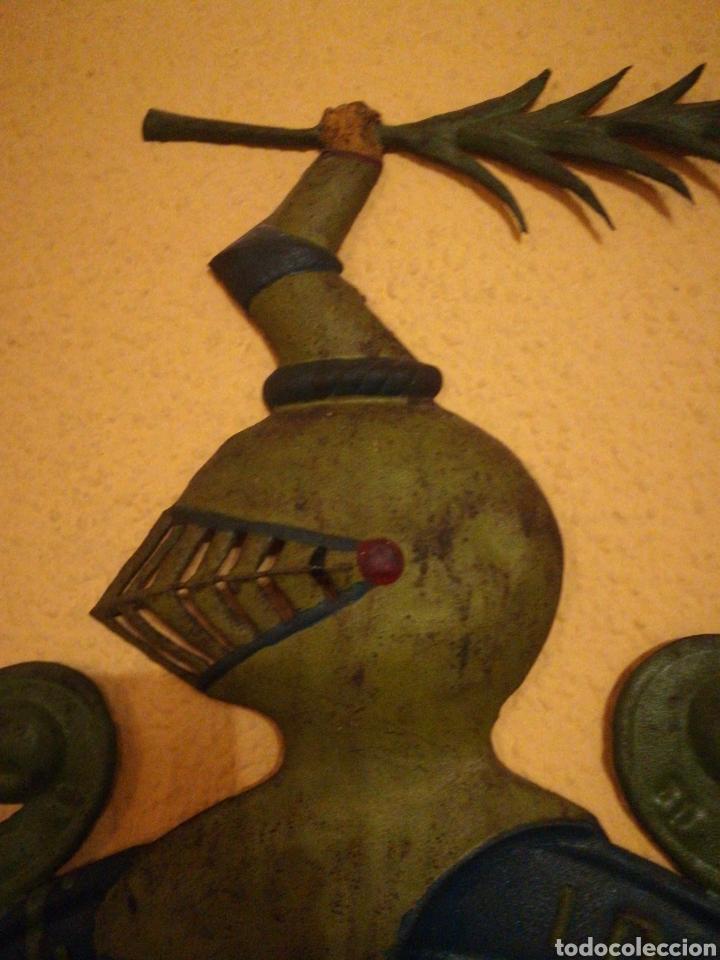 Arte: Antiguo Escudo Nobiliario de chapa. - Foto 5 - 184813485