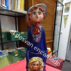 Arte: Mª LUISA CAMPOY. MADRE E HI JA. ESCULTURA EN TERRACOTA. FIRMADA POR LA ARTISTA. 40 CTMS. DE ALTURA. Lote 185043746