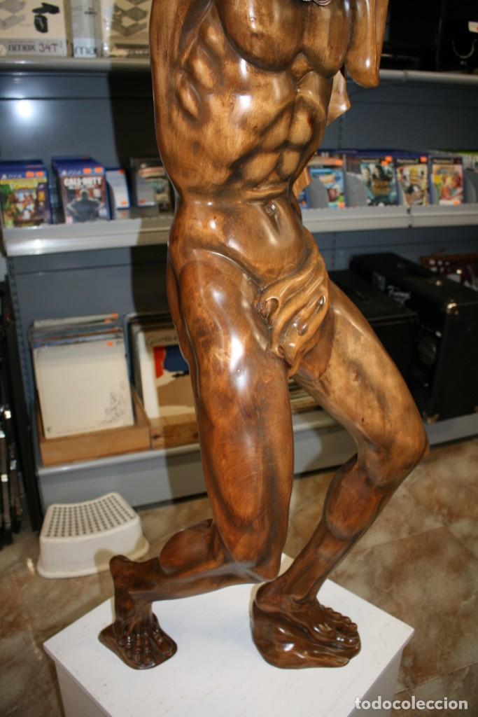 Arte: Atlas Dios Griego escultura tallada en madera 2 metros altura Impresionante - Foto 5 - 185693477