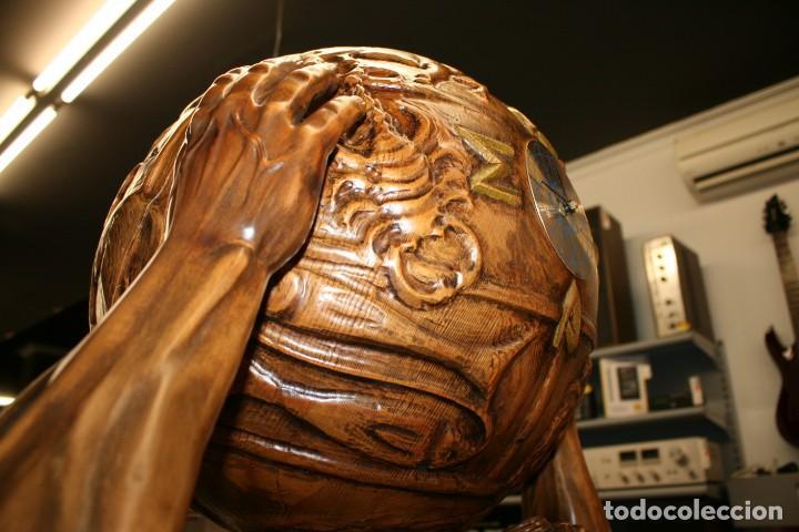 Arte: Atlas Dios Griego escultura tallada en madera 2 metros altura Impresionante - Foto 13 - 185693477