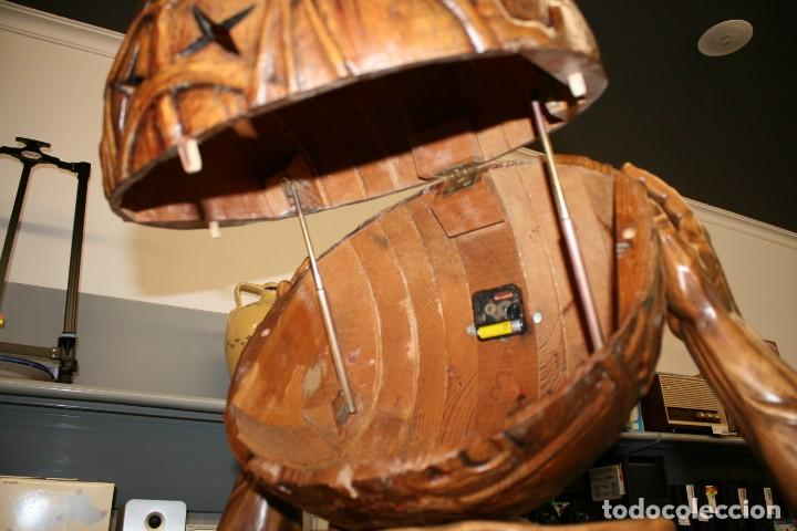 Arte: Atlas Dios Griego escultura tallada en madera 2 metros altura Impresionante - Foto 18 - 185693477