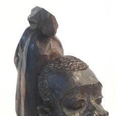 Arte: TALLA EN MADERA DE ÉBANO ORIGINARIA DE TANZANIA, AÑOS 50.. Lote 185712898