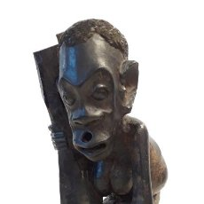 Arte: ESCULTURA TALLADA EN MADERA DE ÉBANO. ORIGINARIA DE TANZANIA, AÑOS 50.. Lote 185714962