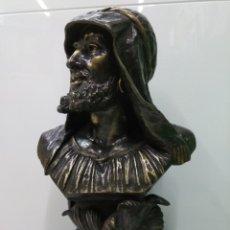 Arte: EXCEPCIONAL ESCULTURA OBRA DE HELMUTH SCHIEVELKAMP 1849 - 1932 BUSTO ÁBDERRAMAN III EN BRONCE 51 CM. Lote 186331873