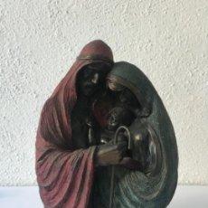 Arte: GRAN BRONCE DE LA SAGRADA FAMILIA - NACIMIENTO. SAN JOSÉ VIRGEN MARÍA Y NIÑO JESÚS. PESA 5.300.. Lote 186343167