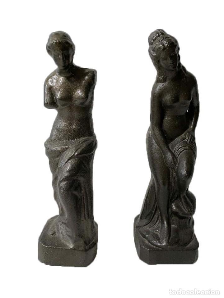 MUJERES GRIEGAS DE PLOMO, RAREZA, PRECIOSAS, UNICAS. (Arte - Escultura - Hierro)