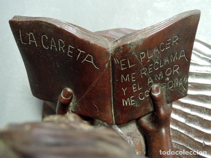 Arte: TALLA PAREJA ERÓTICA EN MADERA DE CAOBA, ATRIBUIDA JUAN SIERRA - Foto 7 - 187181711