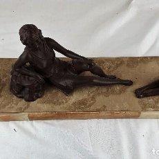 Arte: ESCULTURA DE BRONCE EN BASE DE MARMOL. Lote 187476178