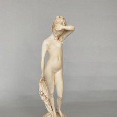 Arte: DIOSA VENUS SALIENDO DEL BAÑO , TALLADA A MANO Y FIRMADA SELLFRAM , 34 CM.. Lote 188563705
