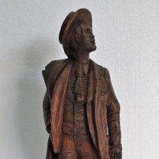 Arte: ANTIGUA ESCULTURA TALLA DE MADERA. Lote 189216728