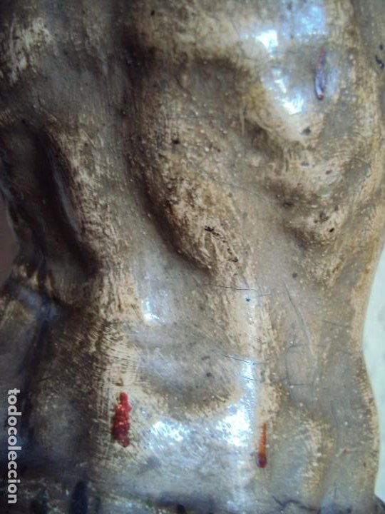 Arte: (ANT-191290)JESÚS CRUCIFICADO - TALLA DE MADERA POLICROMADA - CRISTO DOLIENTE - XVIII-XIX - GRANDE - Foto 16 - 189325518