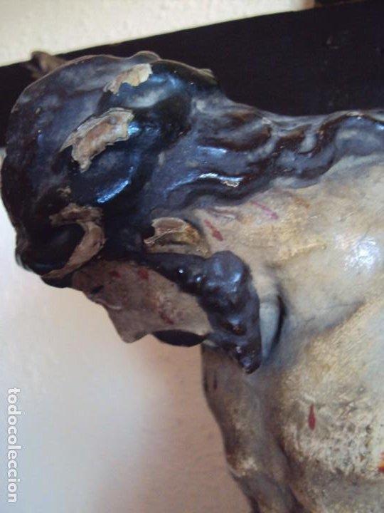 Arte: (ANT-191290)JESÚS CRUCIFICADO - TALLA DE MADERA POLICROMADA - CRISTO DOLIENTE - XVIII-XIX - GRANDE - Foto 20 - 189325518